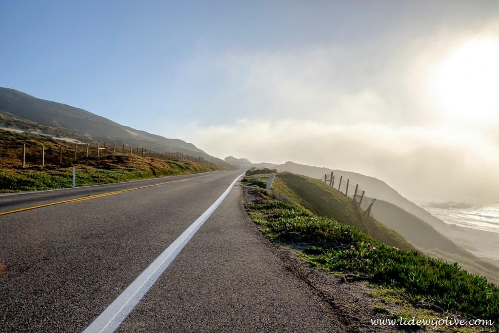 Foggy road, HDR