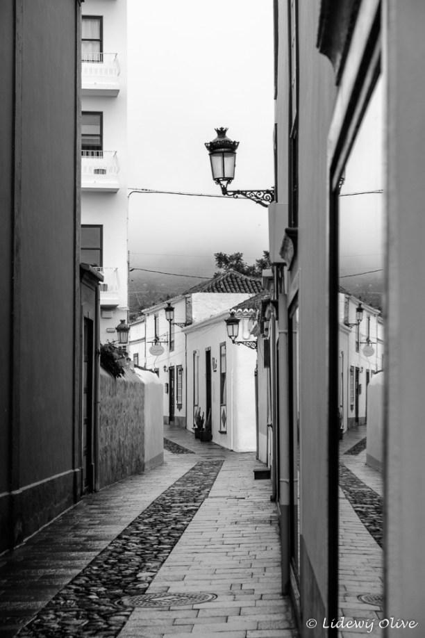 Reflection in the street Los llanos de aridane