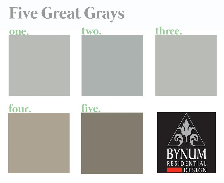 Best Gray Paint Colors | Bynum Design Blog