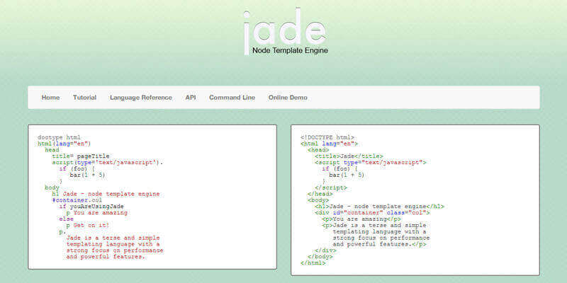 Jade, Node JS Template Engine Bypeople