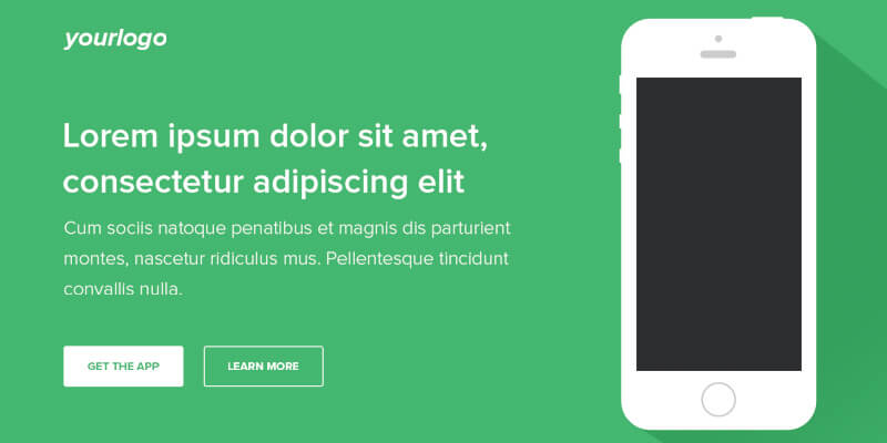 PSD Mobile App Landing Page Template Bypeople - app landing page template