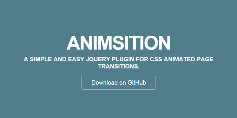 CSS Animated Page Transitions jQuery Plugin Bypeople