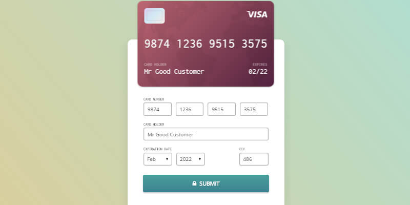Credit Card Checkout Form Bypeople