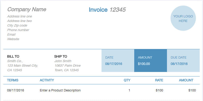 Sample For Invoice Pertaminico 9 Best Free Invoice Template Online
