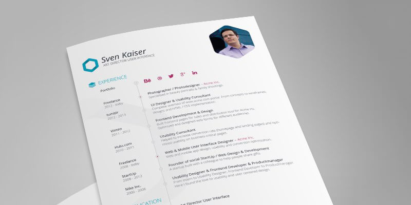 Vita Resume/CV Indesign Template Bypeople