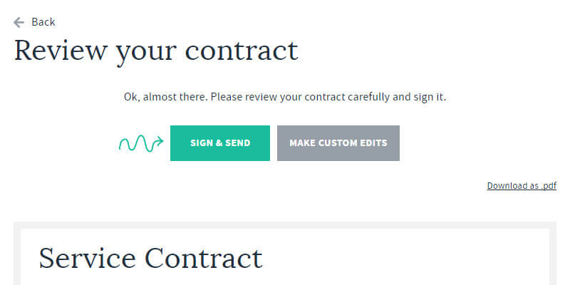 The Freelance Contract Free Online Service Agreement Builder Bypeople