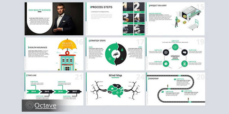 Free Infographic Powerpoint Template (20+ Slides) Bypeople