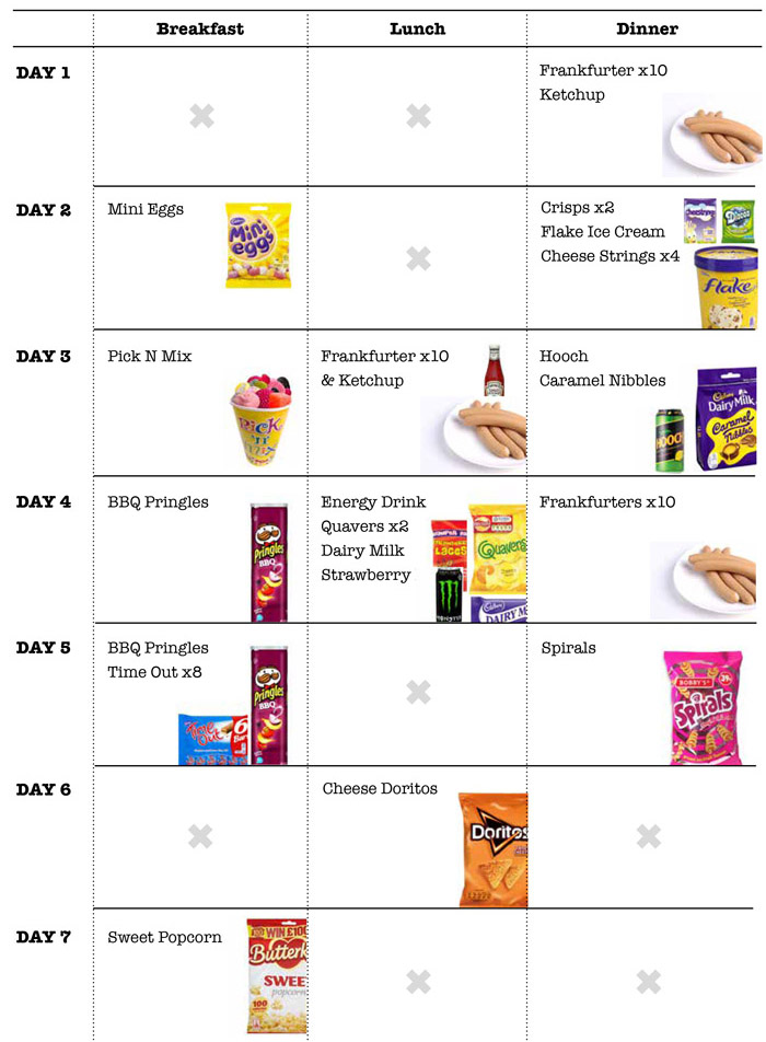 food diary example - Maggilocustdesign - food journal sample