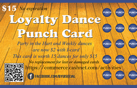 Dance Punch Card (No expiration) - punch cards