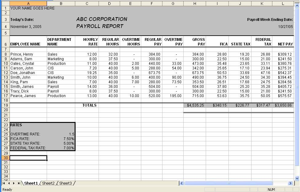 Certified Payroll Format – Pay Roll Format