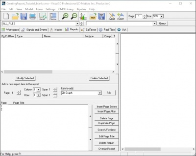 Tutorial Creating a Report - Visual3D Wiki Documentation