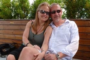 Sarah Bajc with MH370 passenger Philip Wood