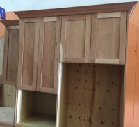 unfinished natural American cherry shaker Kitchen Cabinets