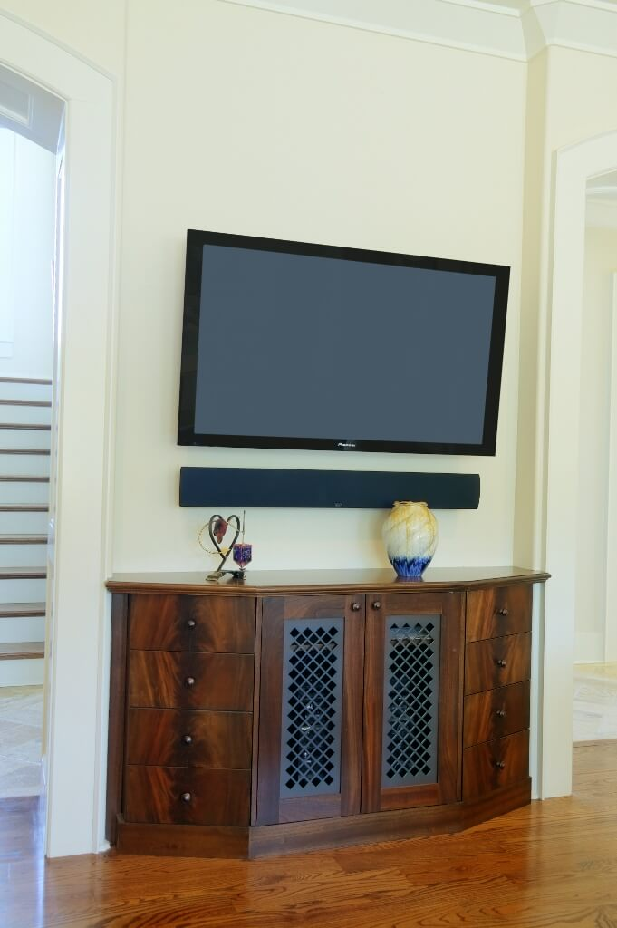 Living room TV hutch metal panel Custom Wooden Cabinets and - living room hutch