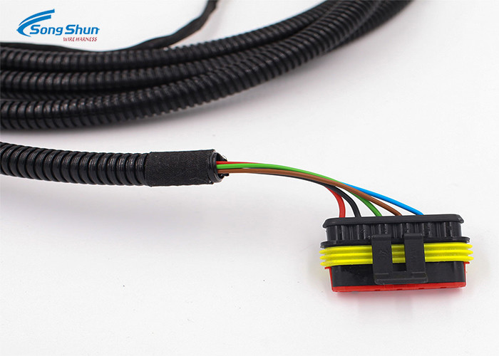 075mm2 Automotive Wiring Harness 6PIN Waterproof Connector For