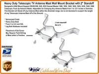 2 inch Wall Mount Bracket for Telescopic Antenna Mast EZ 30-2