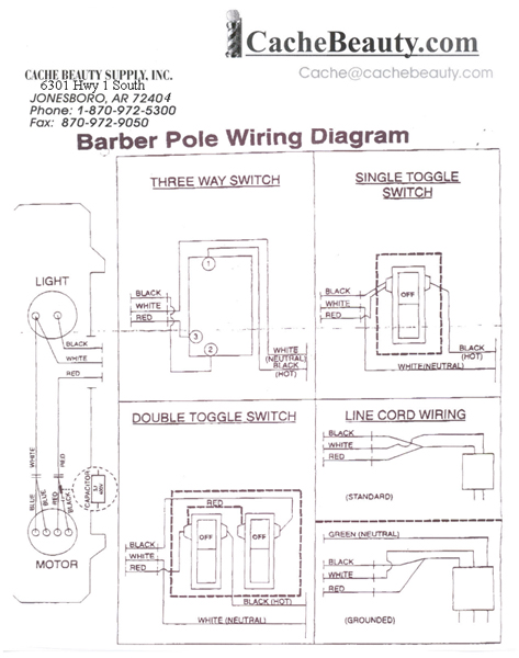 Barber Pole Parts Type A Motor