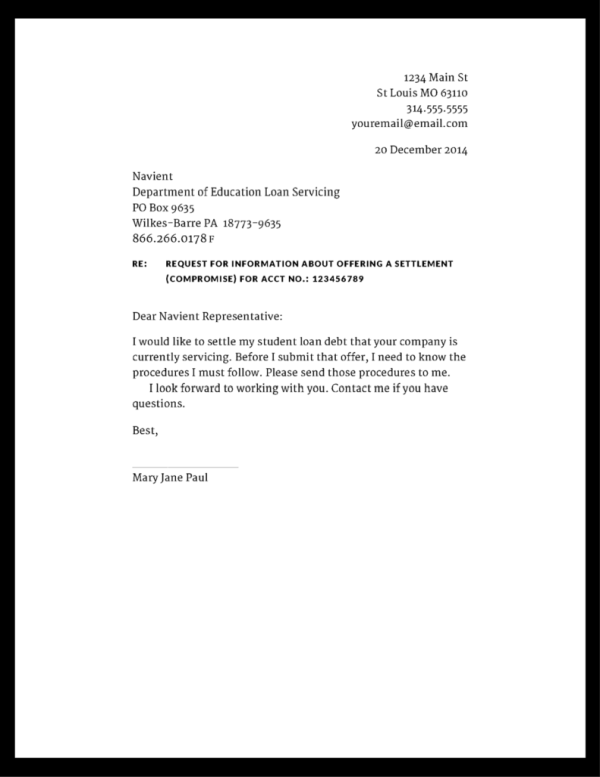 Negotiating And Settling A Credit Card Judgment Sample Letter To Bank For Full Settlement Of Loan Cover