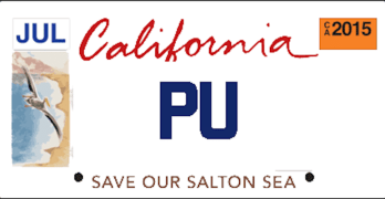 What Should Your Personalized Salton Sea License Plate Say?