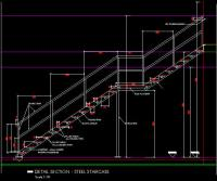 CAD DETAILS : STEEL STAIRCASE 1