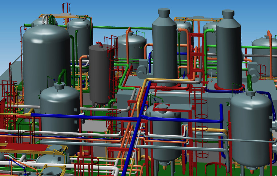3D Plant Engineering Software MPDS4 PLANT DESIGN