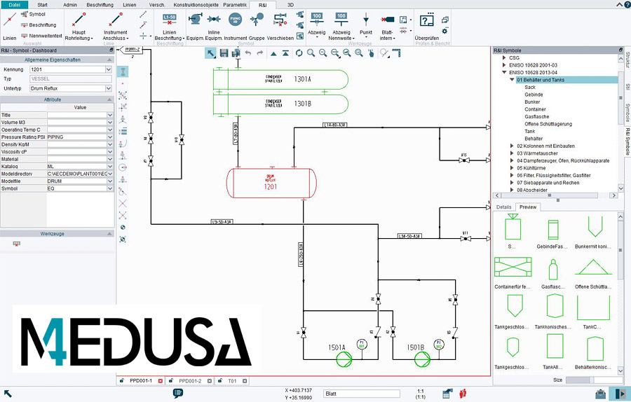PID Software Module for 2D CAD MEDUSA4 PID