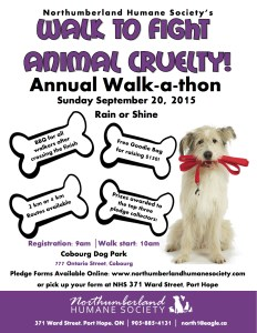 Northumberland Humane Society's Walk to Fight Animal Cruelty @ Cobourg Dog Park   Cobourg   Ontario   Canada