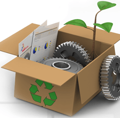 SolidWorks Sustainability logo