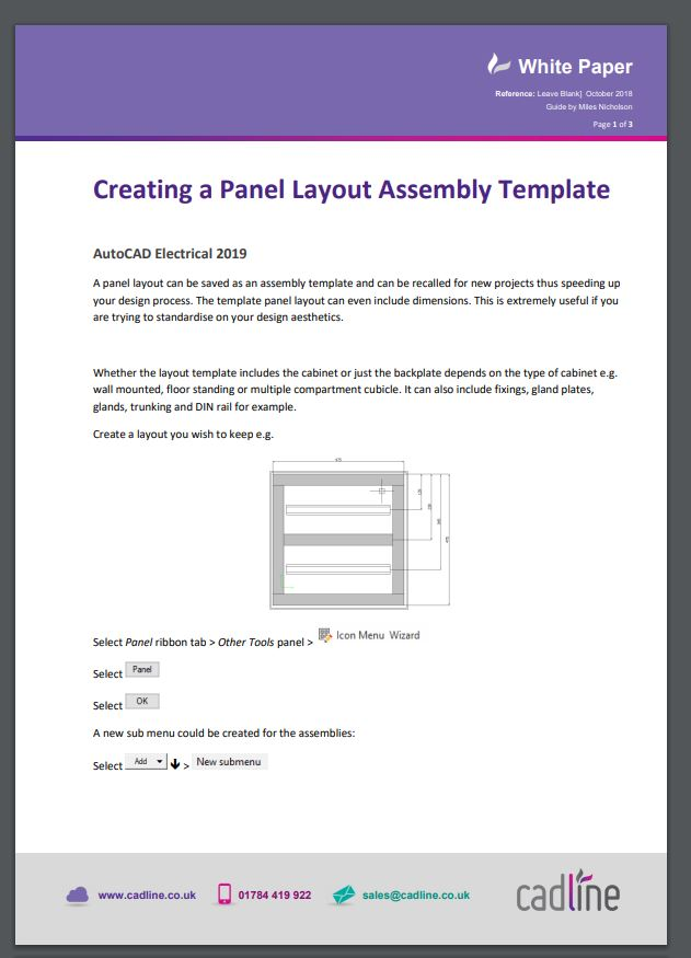 AutoCAD Electrical 2019 \u2013 Creating a Panel Layout Assembly Template