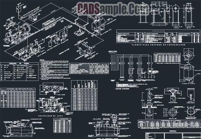 Free Dwg Drawings Steam Generator Electrical Plans » CADSampleCom