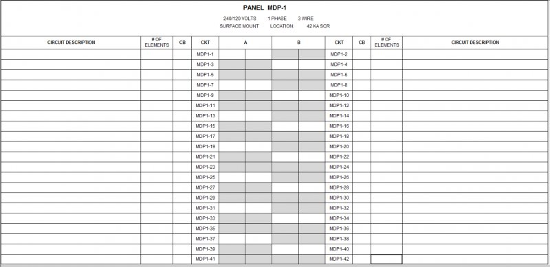 Single Phase Panel Schedule Issue - Revit MEP - AutoCAD Forums