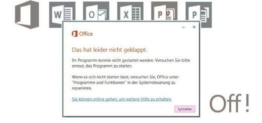 Das aktuelle Patch für Microsoft Office setzt die Programm-Suite außer Betrieb.
