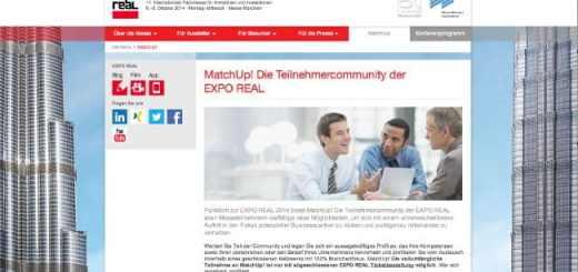 MatchUp! heißt das neue Networking- und Informations-Angebot der Expo-Real