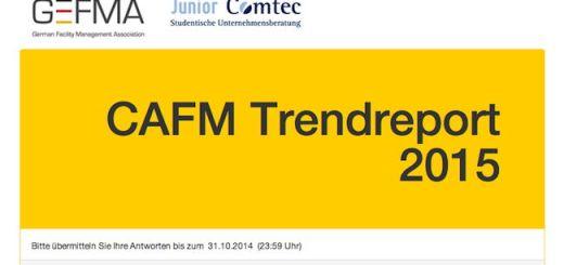 Noch bis zum 31. Oktober können sich Interessierte am GEFMA CAFM-Trendreport 2015 beteiligen