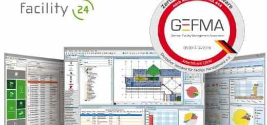 Die CAFM-Cloud-Lösung facility (24) von mohnke (m) ist vollständig nach GEFMA 444 zertifiziert