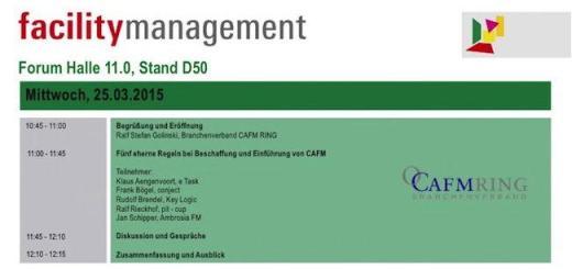 Einführung von CAFM-Software ist Thema des CAFM-Rings beim CAFM-Forum der FM-Messe 2015