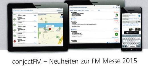 Mobile Lösungen für das CAFM stehen zur FM-Messe 2015 im Fokus von Conject