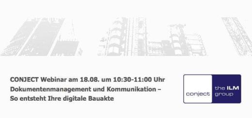 Am 18. August gibt es bei Conject ein Webinar zu Dokumenten-Management