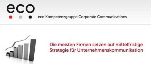 Der neue Corporate Communications Report des eco Verbandes nimmt das Thema Unternehmenskommunikation unter die Lupe