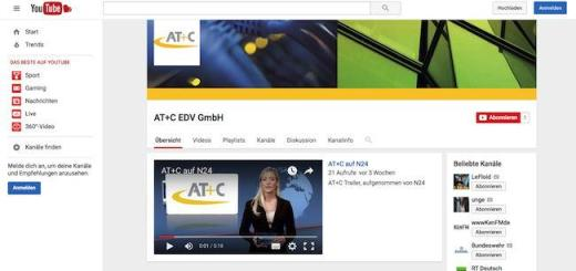 AT+C hat seinen Youtube-Kanal renoviert