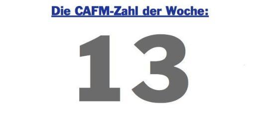 Die CAFM-Zahl der Woche ist 13 - zusammen mit 7 und 4,5