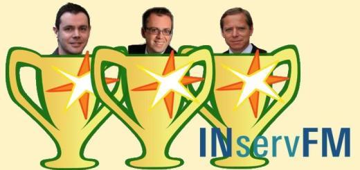 Die Preisträger des Best-Paper-Awards der INservFM 2016 sind (v.l.) Emanuel Stocker, Thomas Bender und Harald Rohr