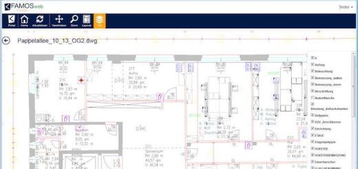 Neues Feature: Kessler Solutions macht in seiner jüngsten Version der CAFM-Software Famos CAD webfähig