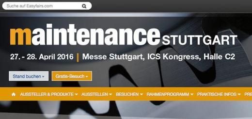InCaTec Solutions stellt heute und morgen auf der Mainenance 2016 in Stuttgart aus