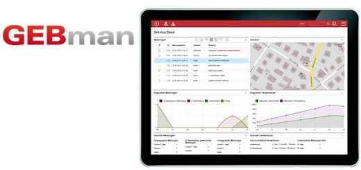 Wird auch auf dem Tablet serviert: Die Cloud basierte CAFM-Software GEBman 5.0 ist jetzt responsiv
