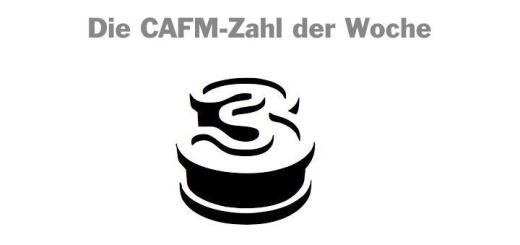 Die CAFMZahl der Woche ist dieses Mal die 3 - stellvertretend für die 3D-Daten- und Prozessmodelle, die in FM wie CAFM relevant sind