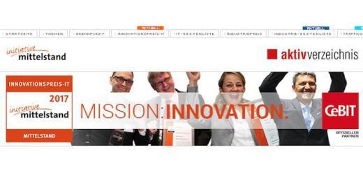 Die Bewerbungsfrist zum Innovationspreis-IT 2017 hat begonnen und läuft bis Februar 2017