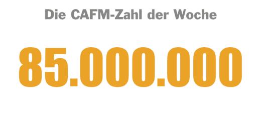 Die CAFM-Zahl der Woche ist die 85.000.000 – die Grundlage des FM-Benchmarkingberichts