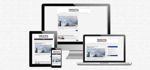 Jetzt auch mobil: Das Design der neuen Facility Management Website ist luftig und vor allem responsiv
