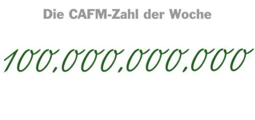 Die CAFM-Zahl der Woche ist die 100.000.000.000 – das ist die Summe in Euro, mit der die Netzallianz Digitales Deutschland bis 2025 das ganze Land gigabit-fit machen will